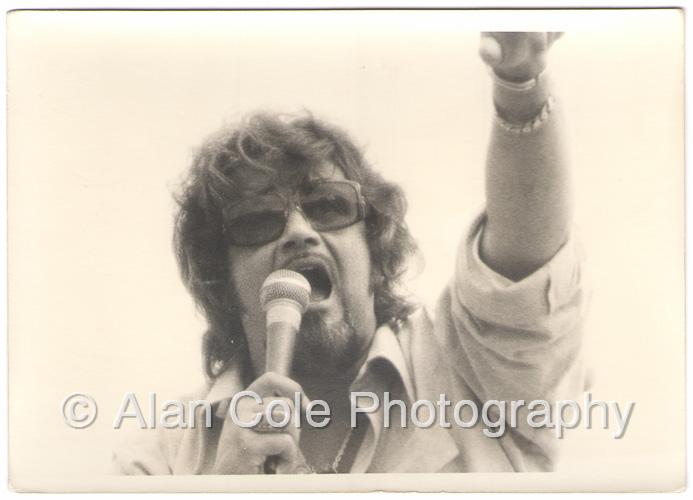 august jam charlotte motor speedway 1974 rock concert kodak tri-x film photography darkroom print yashica tl electro-x camera vivitar series 1 i zoom crowd wolfman jack