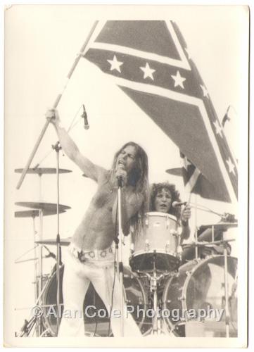 august jam charlotte motor speedway 1974 rock concert kodak tri-x film photography darkroom print yashica tl electro-x camera vivitar series 1 i zoom crowd black oak arkansas jim dandy rebel flag dixie