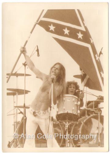 august jam charlotte motor speedway 1974 rock concert kodak tri-x film photography darkroom print yashica tl electro-x camera r series 1 i zoom crowd black oak arkansas jim dandy rebel flag dixie vivita