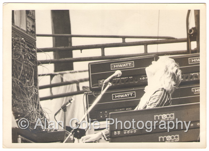 august jam charlotte motor speedway 1974 rock concert kodak tri-x film photography darkroom print yashica tl electro-x camera vivitar series 1 i zoom crowd band keith emerson greg lake carl palmer elp moog synthesizer drummer guitar guitarist bass paiste cymbal gong