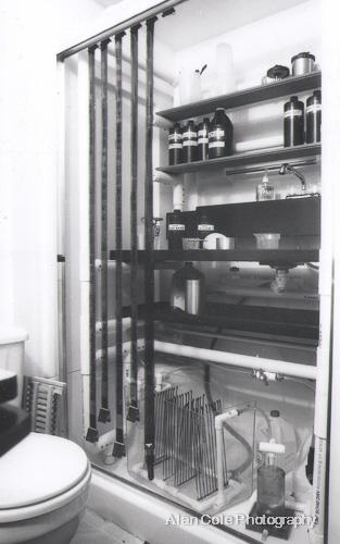 bathroom darkroom wet side rack film chemistry print film washer